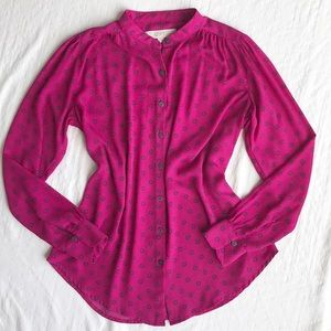 Ann Taylor LOFT Button Down Long Sleeve Blouse